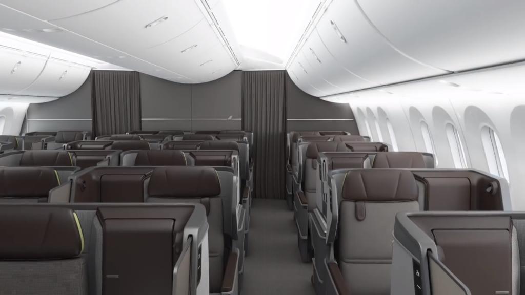 EVA Air представила новый бизнес-класс на Boeing 787