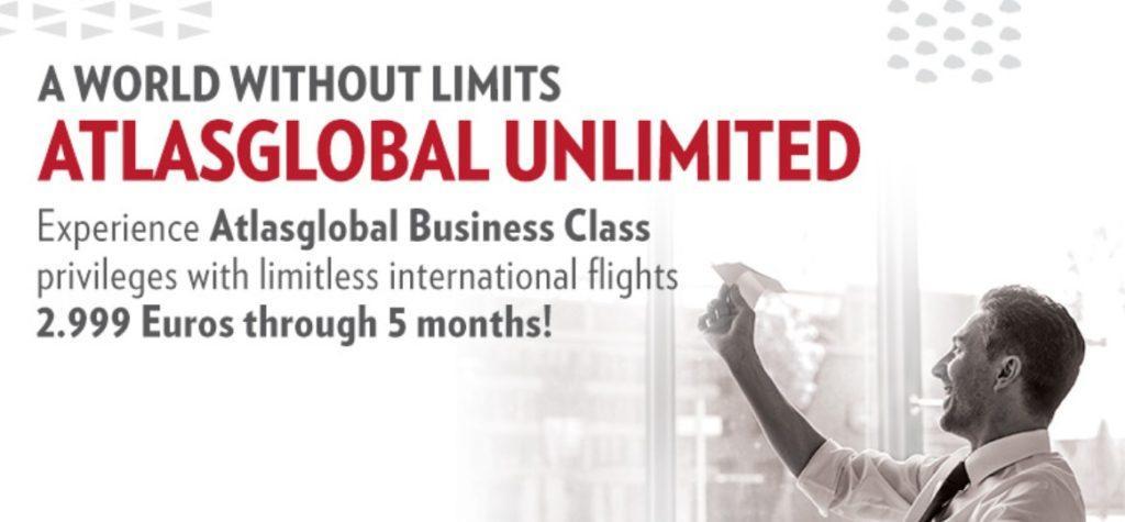 «Проездной» в бизнес-классе Atlas Global за 2999 €