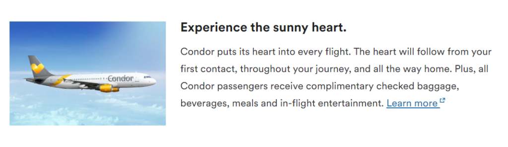 Летаем с Condor почти бесплатно благодаря Alaska Mileage Plan