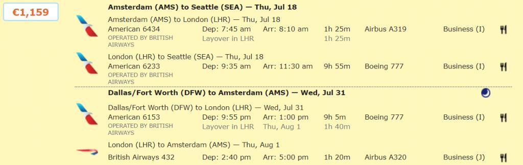 БЕГОМ: потрясающие цены на полеты в бизнес-классе из Амстердама в США