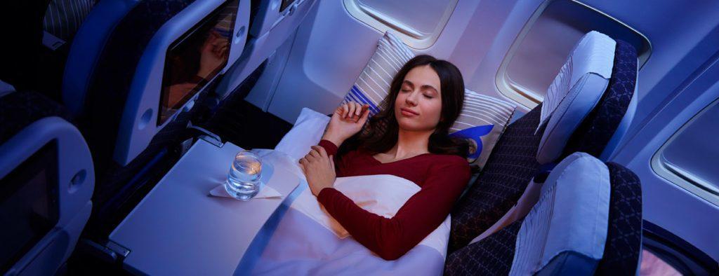 Спальный эконом у Air Astana