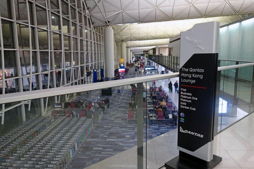 Обзор: Qantas Lounge, Гонконг
