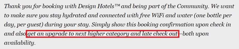 Design Hotels больше не апгрейдит при бронировании на официальном сайте?