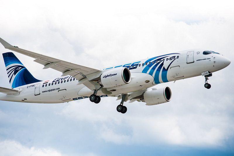 Egyptair будет летать в Москву на А220