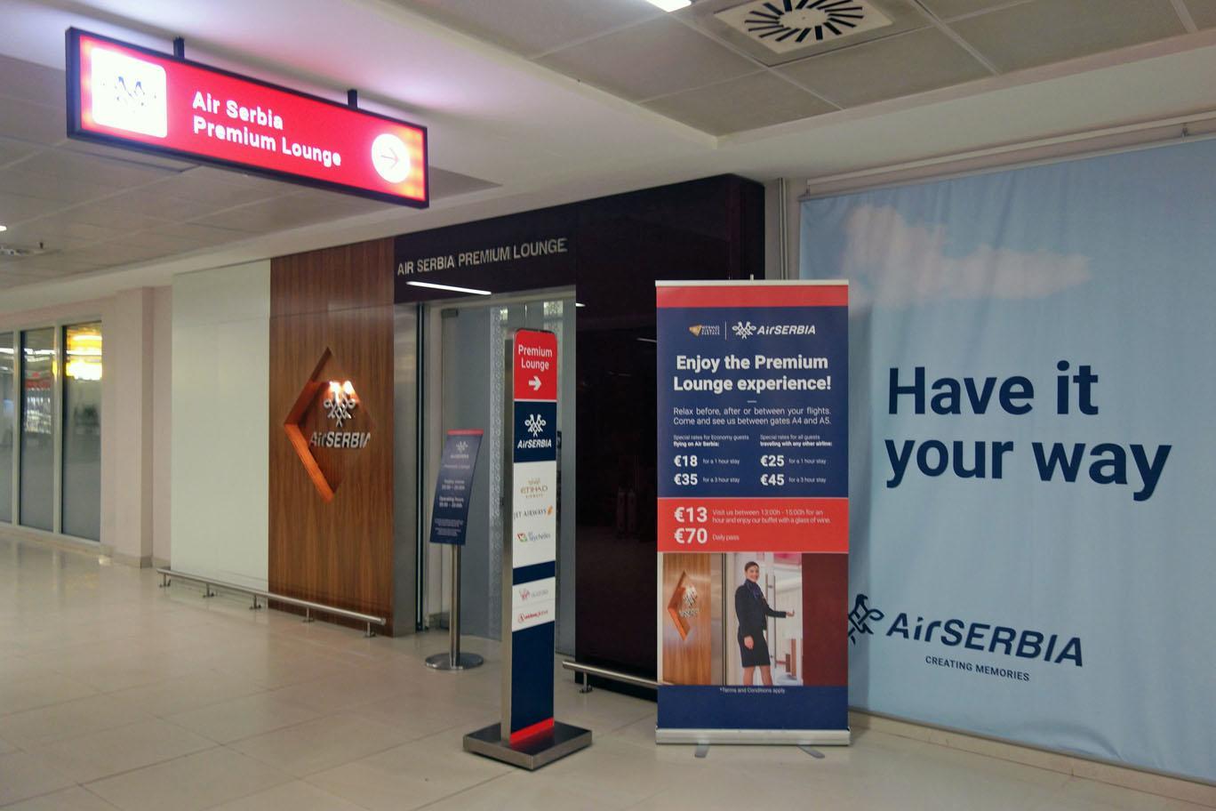 Обзор: Air Serbia Premium Lounge, Белград