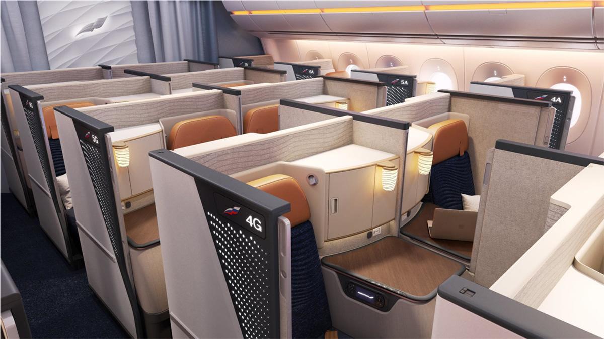 Первые фотографии нового бизнес-класса Аэрофлота