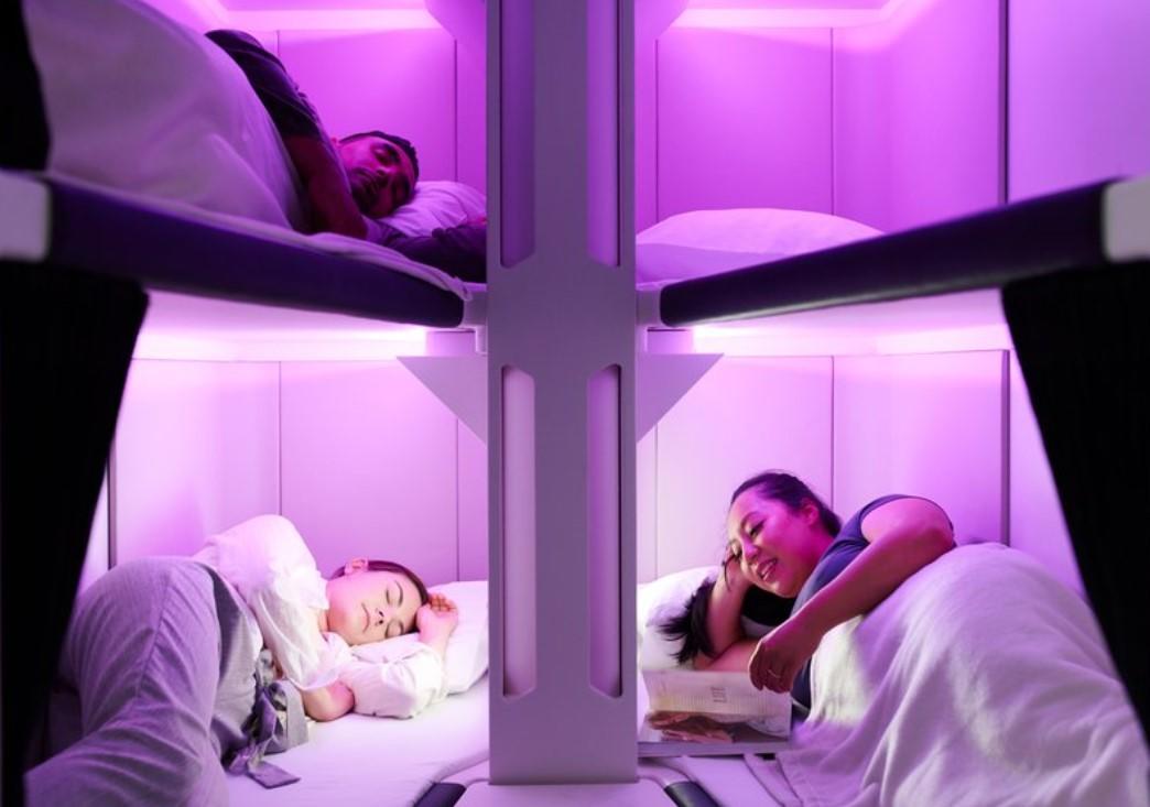 Air New Zealand представляет трехъярусные кровати в эконом-классе