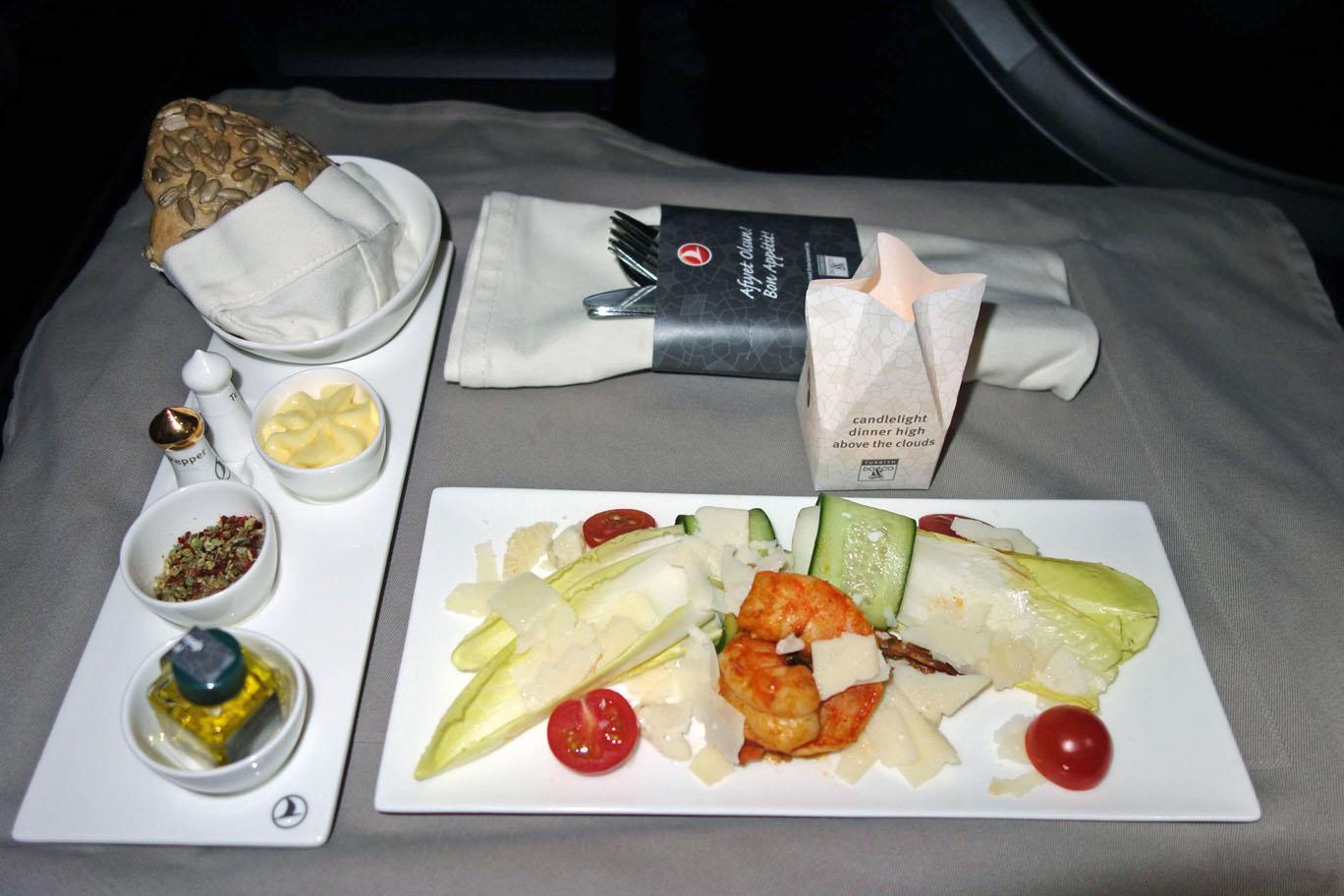 Временные изменения кейтеринга Turkish Airlines в бизнес-классе