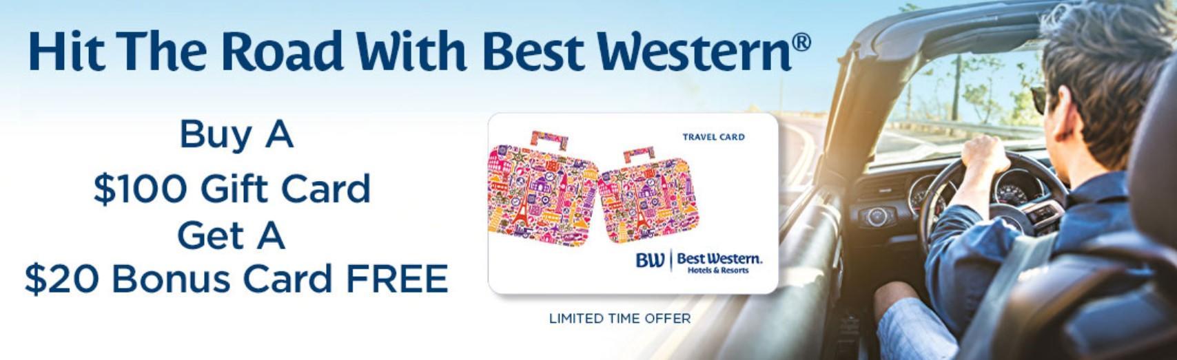 Подарочные карты Best Western с бонусом 20%