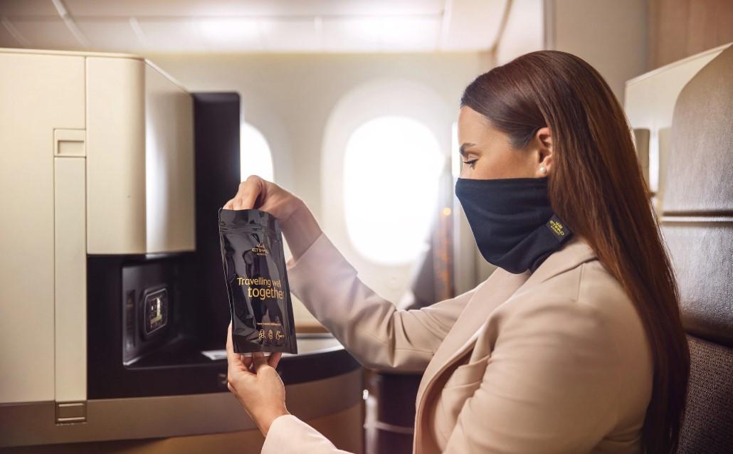 Новая маска для премиум-пассажиров Etihad