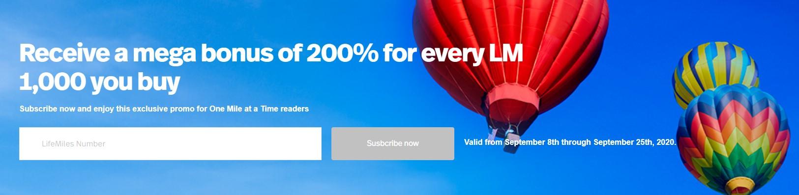 [Последний шанс] Распродажа миль LifeMiles с WOW-бонусом 200%