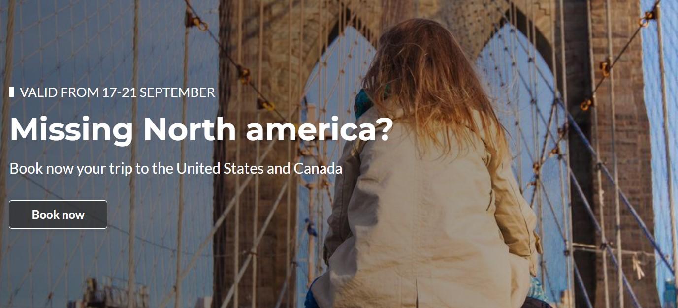Скидка 15% на полёты c TAP в США и Канаду