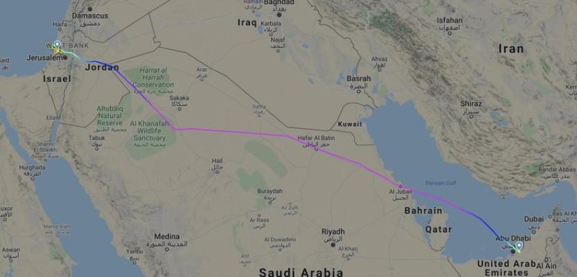 Первый пассажирский рейс между ОАЭ и Израилем