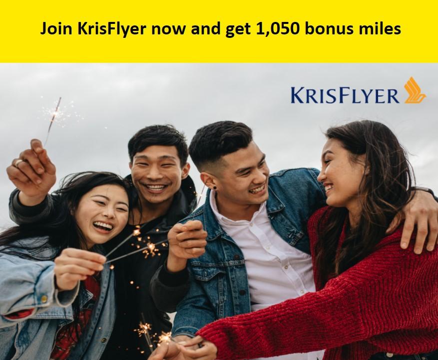 Бесплатные мили за регистрацию в KrisFlyer