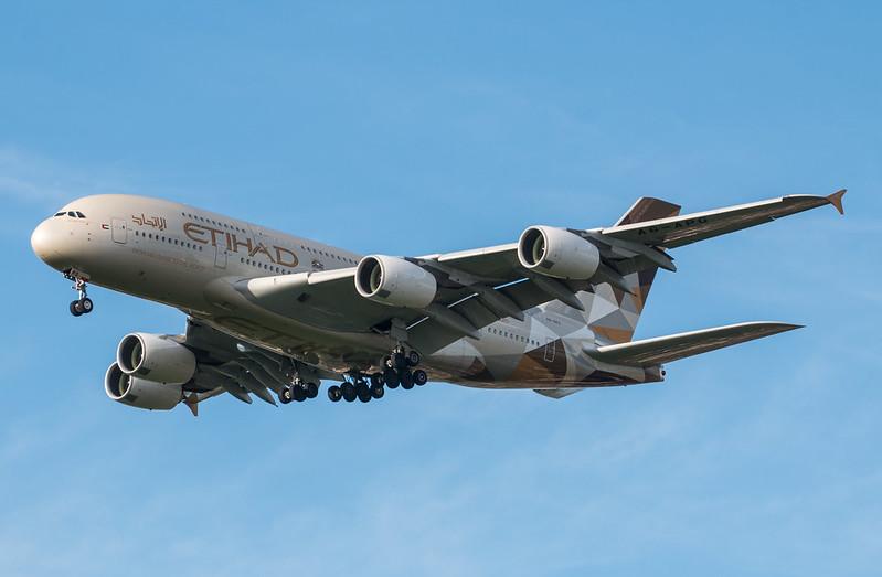 Etihad прощается с Airbus A380