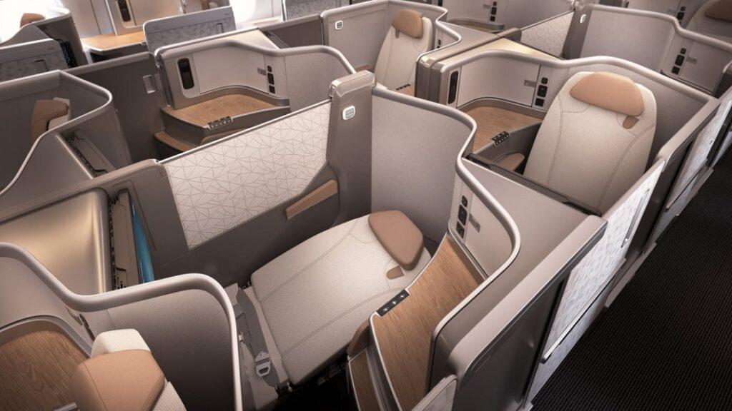 Новый бизнес-класс Air China на Airbus A350